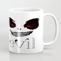 resident evil Mugs featuring Evil by Timkirman