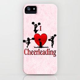 I Heart Cheerleading iPhone Case