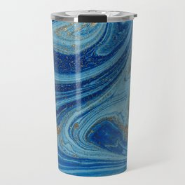 Blue & Gold Glitter Travel Mug