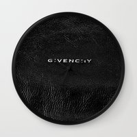 givenchy Wall Clocks featuring Givenchy Black  by Luxe Glam Decor