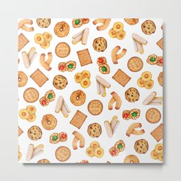 Biscuits, cookies, sweets and pastries Illustration | Food illustration Metal Print