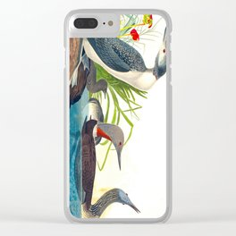 Red-Throated Diver Duck Clear iPhone Case