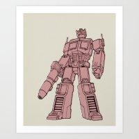 optimus prime Art Prints featuring Optimus Prime by Luke Spicer