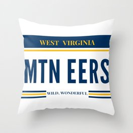 West Virginia License Plate Throw Pillow