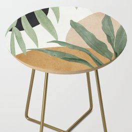 Abstract Art Tropical Leaves 4 Side Table