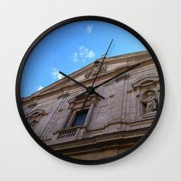 Upward Cross, Chiesa di San Luigi dei francesi Wall Clock