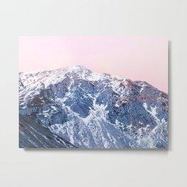 Rose Quarz and Serenity Mountains Metal Print