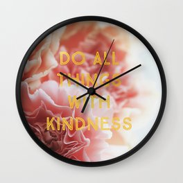 With Kindness Wall Clock
