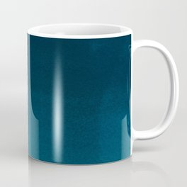 Navy blue teal hand painted watercolor paint ombre Coffee Mug