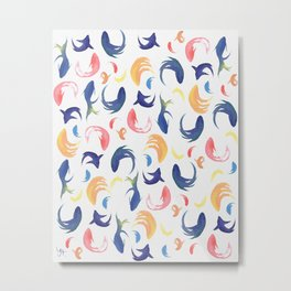 Multicolor fishes pattern Metal Print