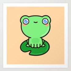 Cute frog Art Print