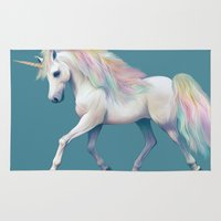 unicorn Area & Throw Rugs featuring Unicorn by ShannonPosedenti