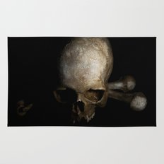 Male skull with bones Rug
