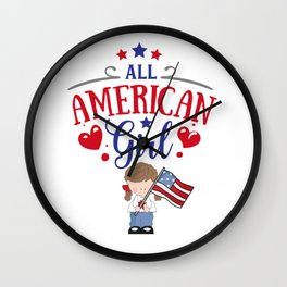 All American Girl Wall Clock