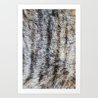furry Art Prints featuring Furry by Courtney Spencer