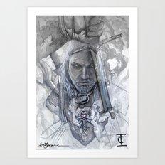 Geralt of Rivera Art Print