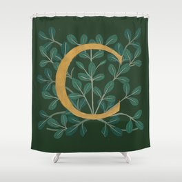 Forest Letter C 2018 Shower Curtain