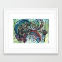 lovecraft Framed Art Prints featuring Lovecraft by NarwhalWolf