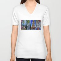 muppet V-neck T-shirts featuring Muppet Stretching Room Portraits by Lissyleem