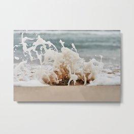 Beach Splash Metal Print