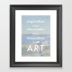 Innovation is an art Framed Art Print
