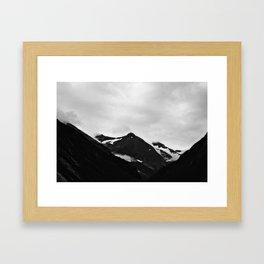 Cloud-Wreathed Peaks Framed Art Print