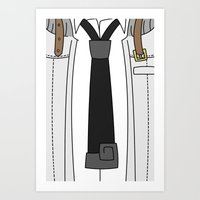 soul eater Art Prints featuring Soul Eater Evans Spartoi Uniform by Bunny Frost