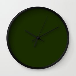 Dark Green Colour Wall Clock