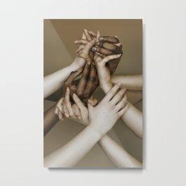 Hands 2 Metal Print