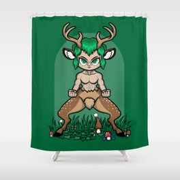 Faun Fighter (stag) Shower Curtain