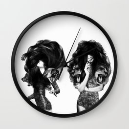 Lions And Bears Party Wall Clock
