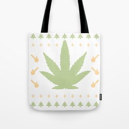 marijuana Green Tote Bag