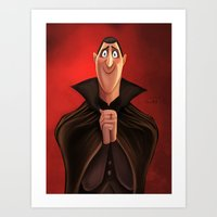 dracula Art Prints featuring Dracula by This Is Niniel Illustrator
