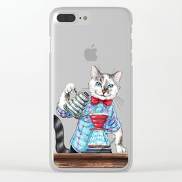 PURRover coffee. AlterCATive brewing Clear iPhone Case