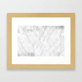 White Marble Print III Framed Art Print