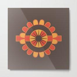 Stylized geometric flower Metal Print
