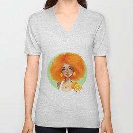 Orange Girl Unisex V-Neck