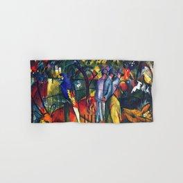 Hyacinth Macaw and Zoological Garden by August Macke Hand & Bath Towel