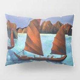 Junks In the Descending Dragon Bay Pillow Sham