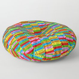 prescription warning labels Floor Pillow