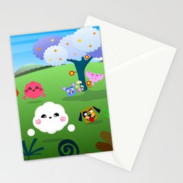 Happy Colorful Planet 01 Stationery Cards