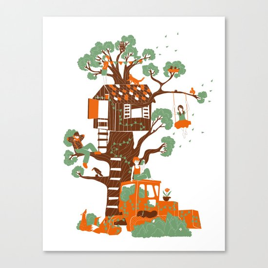 Mon arbre Canvas Print