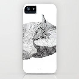 Hachiko Doodle iPhone Case