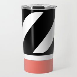 Monogram Letter Z-Pantone-Peach Echo Travel Mug