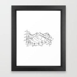 Squamish Summits :: Single Line Framed Art Print