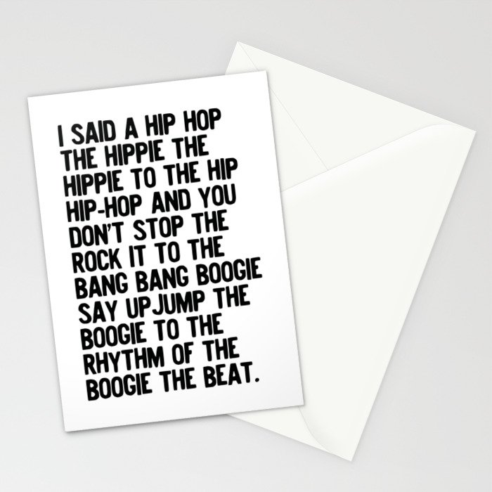 RAPPERS DELIGHT Hip Hop CLASSIC MUSIC Stationery Cards