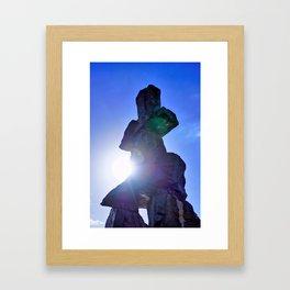 Inukshuk Monument Vancouver Framed Art Print