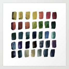 Brushstrokes 1w by Kathy Morton Stanion Art Print