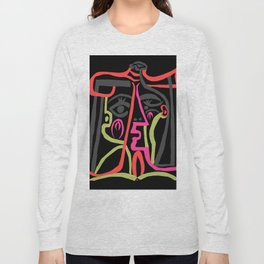 Picasso - Neon Colors Long Sleeve T-shirt