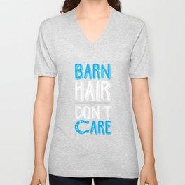Barn Hair don't care Pony Horse Riding Girl Unisex V-Neck